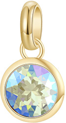 Pozlacený ocelový přívěsek s krystalem Très Jolie BTJM251