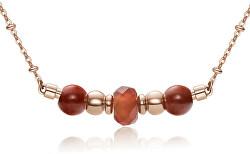 Ružovo pozlátený oceľový náhrdelník Trés Jolie BTJMS658