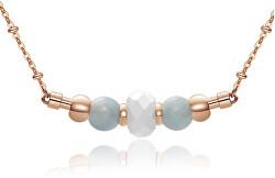 Ružovo pozlátený oceľový náhrdelník Trés Jolie BTJMS660