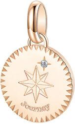 Růžově zlacený ocelový přívěsek s krystalem Journey Très Jolie BTJM186