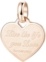 Růžově zlacený ocelový přívěsek srdce Très Jolie BTJM289