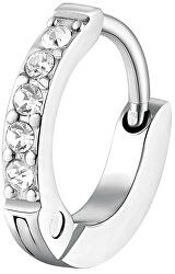 Trendy single náušnice s čirými krystaly Chakra BHKE033