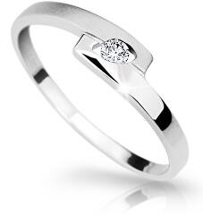 Elegáns fehér arany gyűrű gyémánttal DZ6725-1284-00-X-2