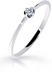 Gyengéd fehér arany gyűrű gyémánttal  DZ6729-2931-00-X-2