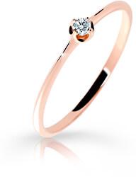 Gyengéd rózsaszín arany gyűrű gyémánttal DZ6729-2931-00-X-4