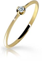 Gyengéd sárga arany gyűrű gyémánttal  DZ6729-2931-00-X-1