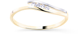 Gyönyörű kétszínű arany gyűrű gyémántokkal DZ8026-00-X-1