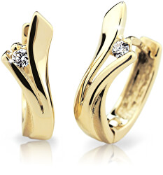 Luxusné kruhové náušnice zo žltého zlata s briliantmi DZ6434-1795-80-00-X-1
