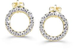 Luxus sárga arany fülbevalók gyémántokkal  DZ60240-30-00-X-1