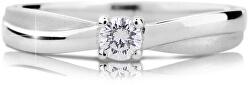 Luxus fehérarany eljegyzési gyűrű gyémánttal DZ6817-1906-00-X-2