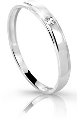 Prsten z bílého zlata s briliantem DZ6707-1617-00-X-2