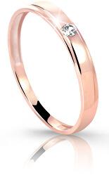 Rózsaszín arany gyűrű gyémánttal DZ6707-1617-00-X-4