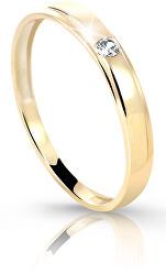 Prsten ze žlutého zlata s briliantem DZ6707-1617-00-X-1