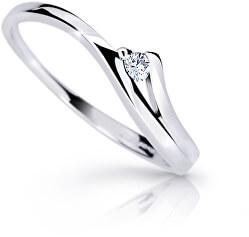 Půvabný prsten z bílého zlata s briliantem DZ6818-1718-00-X-2