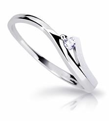 Csodálatos fehér arany gyűrű gyémánttal  DZ6818-1718-00-X-2