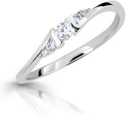 Půvabný prsten z bílého zlata s brilianty DZ6720-3054-00-X-2