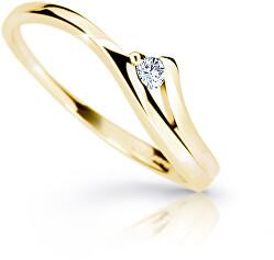 Půvabný prsten ze žlutého zlata s briliantem DZ6818-1718-00-X-1