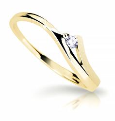 Bámulatos sárga arany gyűrű gyémánttal  DZ6818-1718-00-X-1