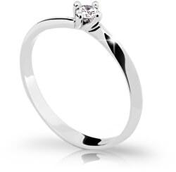 Gyengéd fehér arany eljegyzési gyűrű gyémánttal DZ6811-1907-00-X-2