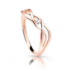 6712-1843-10-X-4 finom rózsaarany gyűrű