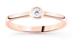Jemný třpytivý prsten z růžového zlata Z8006-10-X-4