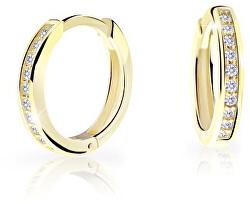 Nadčasové kruhové náušnice ze žlutého zlata C3343-80-10-X-1