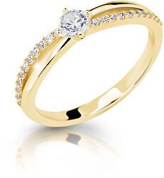 Něžný třpytivý prsten ze žlutého zlata Z6728–2837-10-X-1