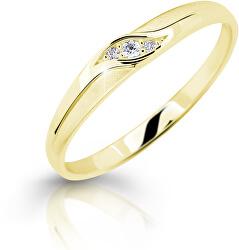 Něžný zásnubní prsten ze žlutého zlata Z6815–2844-10-X-1