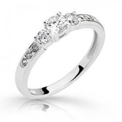 Půvabný prsten z bílého zlata se zirkony Z6806–2360-10-X-2