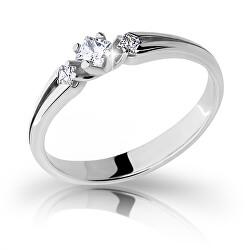 Půvabný prsten z bílého zlata se zirkony Z6866–2105-10-X-2