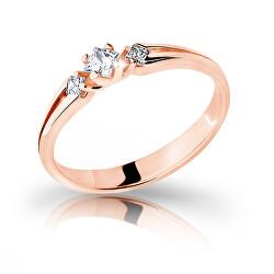 Půvabný prsten z růžového zlata se zirkony Z6866–2105-10-X-4
