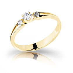 Půvabný prsten ze žlutého zlata se zirkony Z6866–2105-10-X-1
