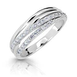 Z6716-3352-10-X-2 lenyűgözően csillogó gyűrű fehéraranyból