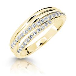 Třpytivý prsten ze žlutého zlata Z6716-3352-10-X-1
