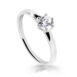 Z6485-10-X-2 lenyűgözően csillogó gyűrű fehéraranyból