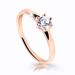 Úchvatný třpytivý prsten z růžového zlata Z6485-10-X-4