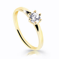 Úchvatný třpytivý prsten ze žlutého zlata Z6485-10-X-1