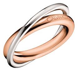 Bicolor ocelový prsten Double KJ8XPR2001