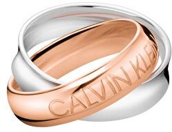 Bicolor ocelový prsten Double KJDFPR2001