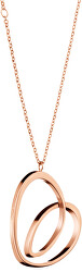 Dlouhý bronzový náhrdelník se srdcem Warm KJ5APN100200