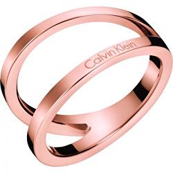 Luxusní bronzový prsten Outline KJ6VPR1001
