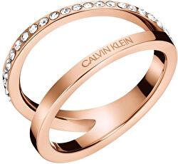 Luxusné bronzový prsteň Outline KJ6VPR1401