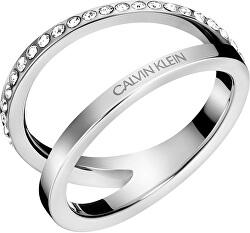 Luxusné oceľový prsteň Outline KJ6VMR0401