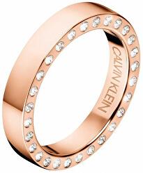 Luxusní ocelový prsten s krystaly Hook KJ06PR1402