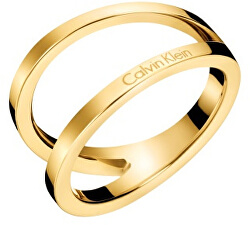 Luxusní pozlacený prsten Outline KJ6VJR1001