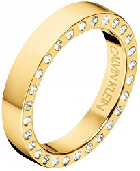 Luxusné pozlátený prsteň s kryštálmi Hook KJ06JR1401