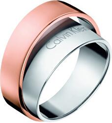 Ocelový bicolor prsten Unite KJ5ZPR2001