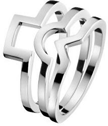 Ocelový prsten 3 v 1 Wonder KJ4VMR0001