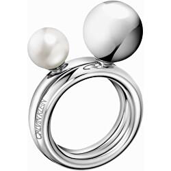 Ocelový prsten Bubbly KJ9RMR04060