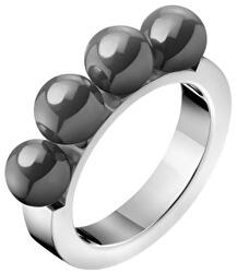 Ocelový prsten s perličkami Circling KJAKMR0401